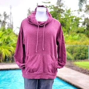 SO cowl neck pullover sweater sz M, maroon color